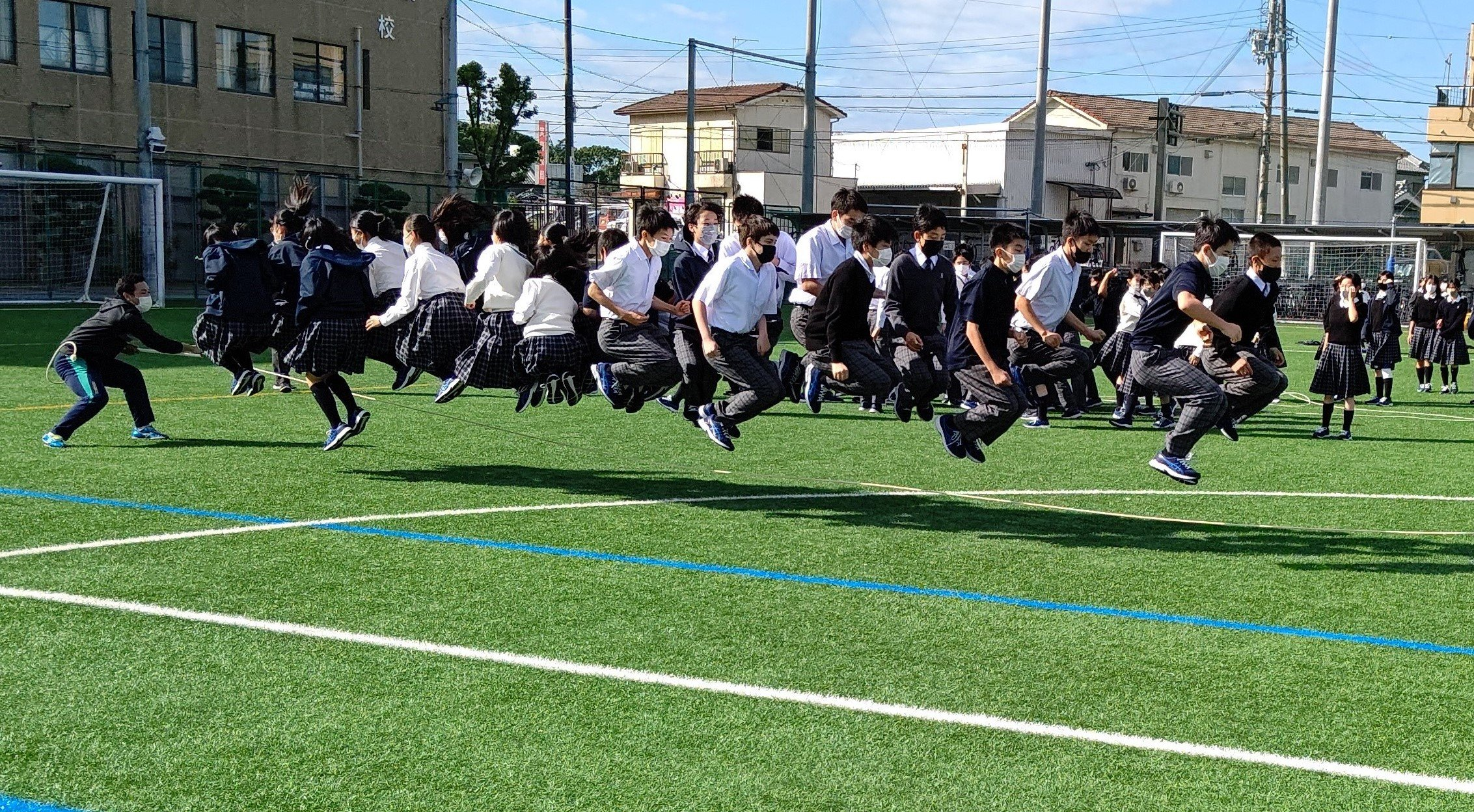 【中学2年生】スポーツフェスティバル練習~大縄とび~